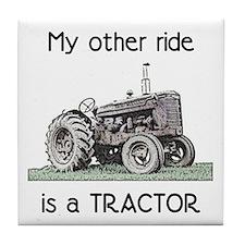Ride a Tractor Tile Coaster