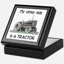 Ride a Tractor Keepsake Box