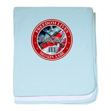 Three Percent - We The People (Flag) baby blanket