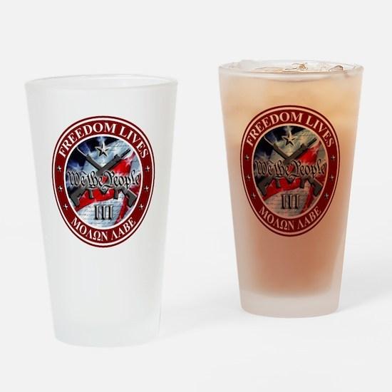 Three Percent - We The People (Flag) Drinking Glas
