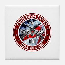 Three Percent - We The People (Flag) Tile Coaster