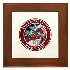 Three Percent - We The People (Flag) Framed Tile
