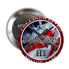 """Three Percent - We The People (Flag) 2.25"""" Button"""