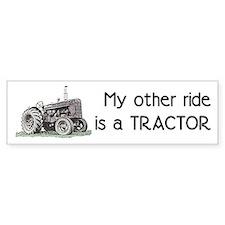 Ride a Tractor Bumper Bumper Sticker