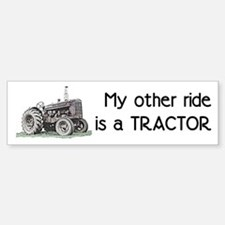 Ride a Tractor Bumper Car Car Sticker