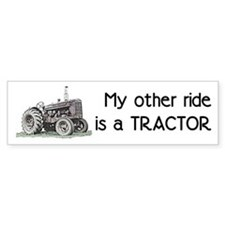 Ride a Tractor Bumper Car Sticker