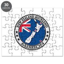 New Zealand Auckland LDS Mission Flag Cutout Map P