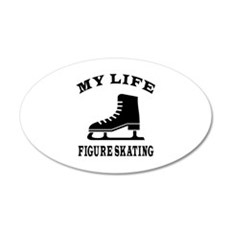 My Life Figure Skating 20x12 Oval Wall Decal