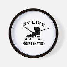 My Life Figure Skating Wall Clock