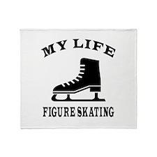My Life Figure Skating Throw Blanket