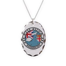 Fiji Suva LDS Mission Flag Cutout Map 1 Necklace
