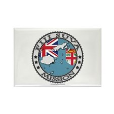 Fiji Suva LDS Mission Flag Cutout Map 1 Rectangle