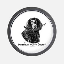 Water Spaniel Charcoal Wall Clock