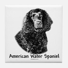 Water Spaniel Charcoal Tile Coaster