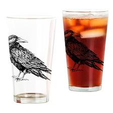 Raven Sketch Drinking Glass