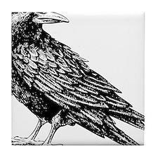 Raven Sketch Tile Coaster