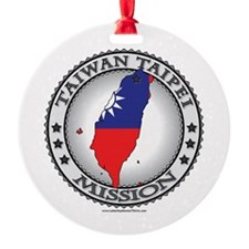 Taiwan Taipei LDS Mission Flag Cutout Map 1 Orname