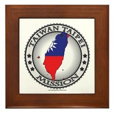 Taiwan Taipei LDS Mission Flag Cutout Map 1 Framed