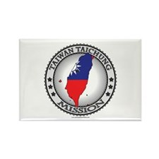 Taiwan Taichung LDS Mission Flag Cutout Map 1 Rect