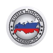 Russia Moscow LDS Mission Flag Cutout Map 1 Orname