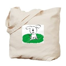 CUTE DOG ON THE GRASS! Tote Bag