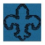 Fleur De Lis Blue Too Tile Coaster