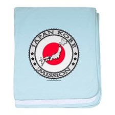 Japan Kobe LDS Mission Flag Cutout Map 1 baby blan