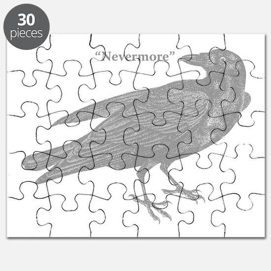 Grey Nevermore Raven Puzzle