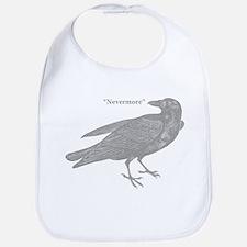 Grey Nevermore Raven Bib