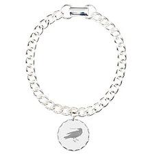 Grey Nevermore Raven Bracelet