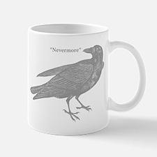 Grey Nevermore Raven Mug