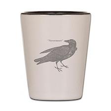 Grey Nevermore Raven Shot Glass