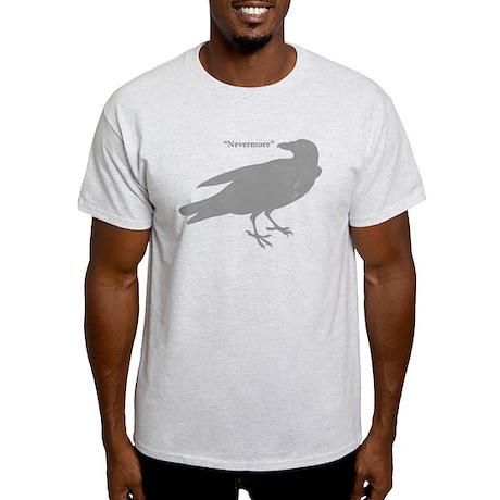 Grey Nevermore Raven Light T-Shirt
