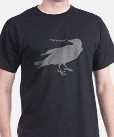 Grey Nevermore Raven T-Shirt