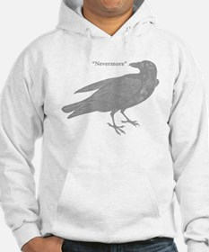 Grey Nevermore Raven Jumper Hoody