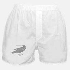 Grey Nevermore Raven Boxer Shorts