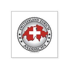 Switzerland Zurich LDS Mission Flag Cutout Map 1 S