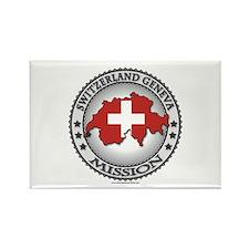 Switzerland Geneva LDS Mission Flag Cutout Map 1 R