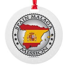 Spain Malaga LDS Mission Flag Cutout Map 1 Ornamen