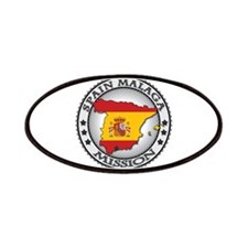 Spain Malaga LDS Mission Flag Cutout Map 1 Patches