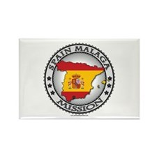 Spain Malaga LDS Mission Flag Cutout Map 1 Rectang