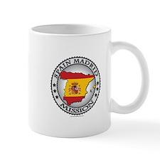 Spain Madrid LDS Mission Flag Cutout Map 1 Mug