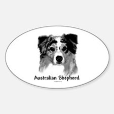 Aussie Charcoal Oval Decal