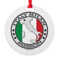 Italy Milan LDS Mission Flag Cutout Map 1 Ornament