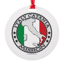 Italy Catania LDS Mission Flag Cutout Map 1 Orname