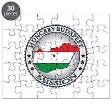 Hungary Budapest LDS Mission Flag Cutout Map 1 Puz