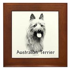 Australian Terrier Charcoal Framed Tile
