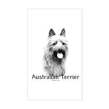 Australian Terrier Charcoal Rectangle Decal