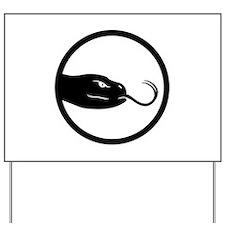 2013 snake head black 00 Yard Sign