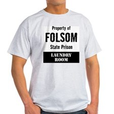 Property of Folsom Prison Ash Grey T-Shirt